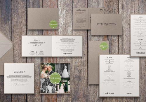 Hochzeitsset Kraftpapier